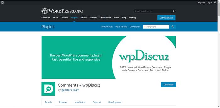 wpDiscuz screenshot