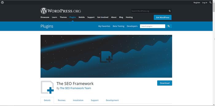 SEO Framework screenshot