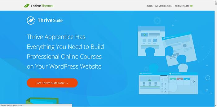 ThriveApprentice screenshot