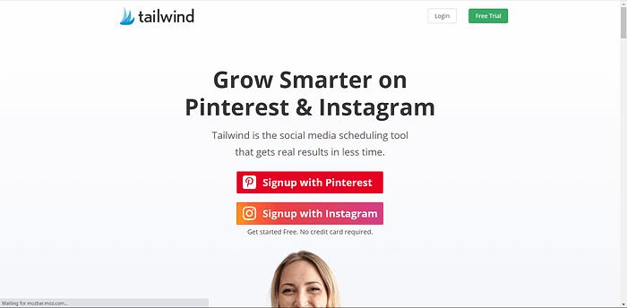 Tailwind Pinterest screenshot