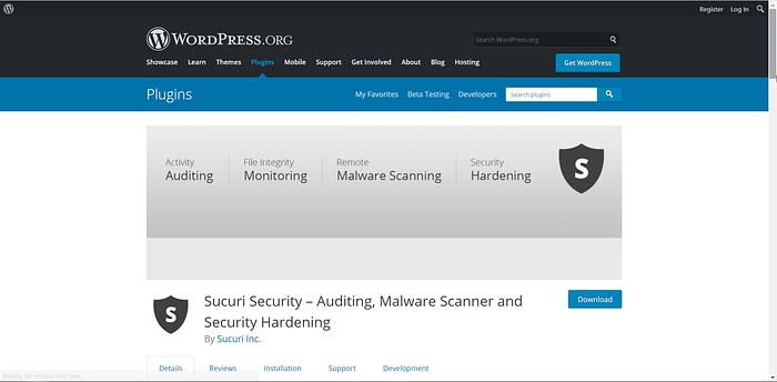 Sucuri Security screenshot
