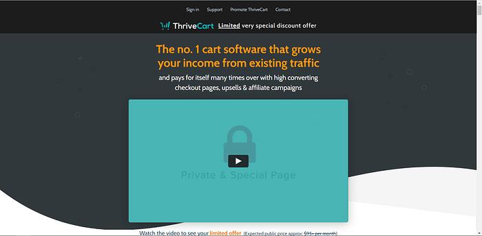 Thrivecart screenshot