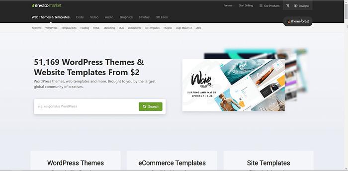 Themeforest screenshot